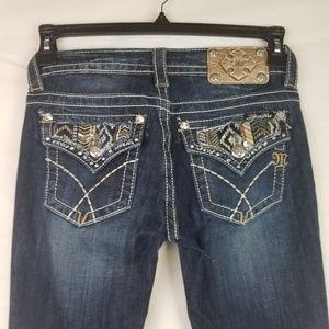 Miss Me Sz 25 x 34 Flap Pocket Embellished Boot